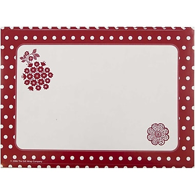 JAM Paper® Christmas Holiday To From Labels, 5 x 7, Red Flower, 8/Pack (2238219092)