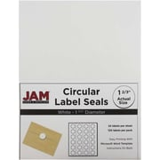 "JAM Paper® 1.6"" Circle Label Sticker Seal, White, 120/Pack"