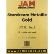 "JAM Paper® 32 lb.. Stardream Paper, 8 1/2"" x 11"", Gold, 25/Pack"