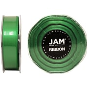 "JAM Paper® 7/8"" x 25 yds. Double Faced Satin Ribbon, Emerald Green, Sold Individually"