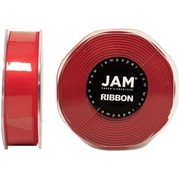 "JAM Paper® 7/8"" x 25 yds. Double Faced Satin Ribbon, Red, Sold Individually"