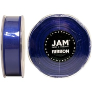 "JAM Paper® 7/8"" x 25 yds. Double Faced Satin Ribbon, Royal Blue, Sold Individually"