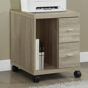 Monarch Specialties Inc. Mobile Printer Stand with 2 Drawer; Natural