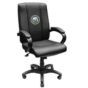 XZIPIT Armed Forces High-Back Executive Chair with Arms; Navy Insignia