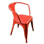 Antique Revival Harvey Barrel Chair (Set of 2); Red