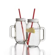 Style Setter Jar with Lid (Set of 2); Clear