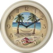 FirsTime 12'' Beach Plastic Wall Clock