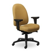 Seating Inc Pearl II Mid-Back Desk Chair; Black