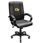 XZIPIT Collegiate High-Back Executive Chair with Arms; Georgia Tech Yellow Jack Block GT