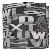 Illumalite Designs Letterpress Sand Typography Polystyrene/Paper Drum Shade; 7''