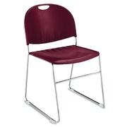 KFI Seating Armless Classroom Stacking Chair; Burgundy