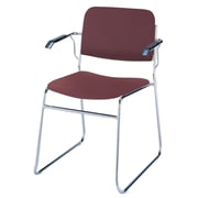 KFI Seating Classroom Stacking Chair with Cushion; Burgundy