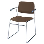 KFI Seating Classroom Stacking Chair with Cushion; Brown