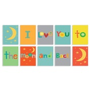 Stupell Industries I Love You to the Moon and Back Typography 10 Piece Graphic Art Set