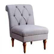 Abbyson Living Sienna Tufted Slipper Chair; Gray