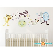 Sunny Decals Nursery Rhyme Hey Diddle Diddle Fabric Wall Decal