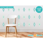 Sunny Decals Diamond and Stars Fabric Wall Decal