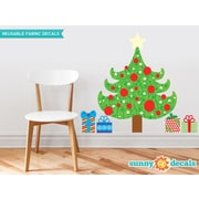 Sunny Decals Christmas Tree Fabric Wall Decal