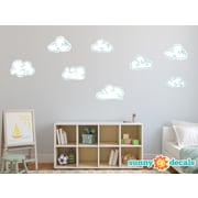 Sunny Decals Hand Drawn Cloud Fabric Wall Decal; White