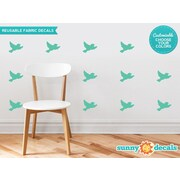 Sunny Decals Birds Fabric Wall Decal (Set of 16); Red