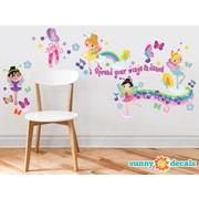 Sunny Decals Beautiful Ballerinas Fabric Wall Decal