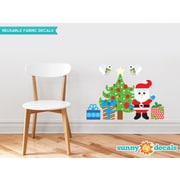 Sunny Decals Christmas Tree Wall Decal with Santa and More Fabric