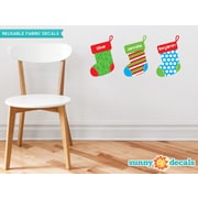 Sunny Decals Christmas Stockings Fabric Wall Decal