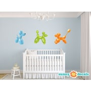 Sunny Decals Balloon Animals Fabric Wall Decal