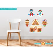 Sunny Decals Christmas Fabric Wall Decal w/ Gingerbread House