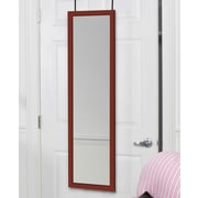 Mirrotek Over the Door Full Length Mirror; Cherry