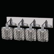 Elegant Lighting Mini 4 Light Oblong Canopy Ellipse Wall Sconce; Crystal (Clear) / Elegant Cut