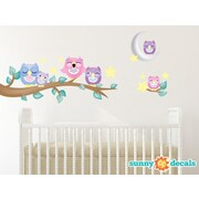Sunny Decals Owl Fabric Wall Decal; Pink