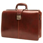 Tony Perotti Italico Beneven Triple Gusset Lawyer's Leather Laptop Briefcase; Black
