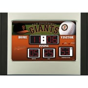 Team Sports America MLB Scoreboard Desk Clock; San Francisco Giants