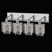 Elegant Lighting Mini 4 Light Oblong Canopy Pentagon / Star Wall Sconce; Crystal (Clear) / Royal Cut