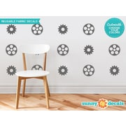 Sunny Decals Gears and Cogs Fabric Wall Decal