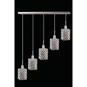 Elegant Lighting Mini 5 Light Pendant; Crystal (Clear) / Royal Cut