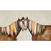GreenBox Art ''Manes of Color on Cream'' by Eli Halpin Painting Print on Canvas