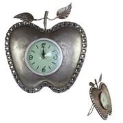 Entrada 14'' Apple Shape Metal Table Clock