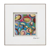 Majestic Mirror Framed Square Colorful Abstract Glass Art