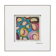 Majestic Mirror Vibrant Colorful Square Abstract 3D Glass Wall Art