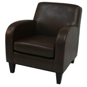 Fox Hill Trading Jamissen Club Chair; Brown Leather