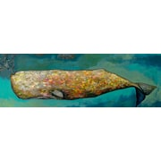 GreenBox Art 'Whale in Seafoam' by Eli Halpin Painting Print on Canvas