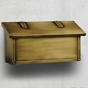America's Finest Mailboxes Classic Horizontal Mailbox; Old Brass