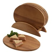 Woodard & Charles Elan 7 Piece Acacia Snack Set