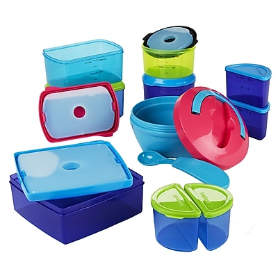 Fit & Fresh 25-Piece Kid's Lunch Container Set WYF078277455221