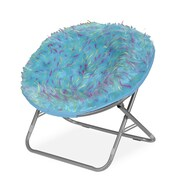 Idea Nuova Rock Your Room Spiker Faux Fur Saucer Papasan Chair