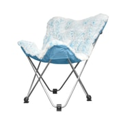 Idea Nuova Rock Your Room Faux Fur Frosted Butterfly Lounge Chair; Teal