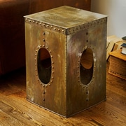 Wildon Home   Square Rivet Stool; Copper