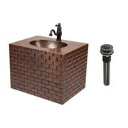 Premier Copper Products 18'' Single Hand Hammered Copper Wall Mount Bathroom Vanity Set